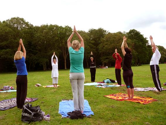Yoga in het bos Amstelveen
