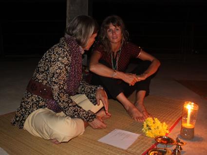 Shri Kali Ashram in Galgibaga in het zuiden van Goa India 2012 _ Lydwina en Vanessa __