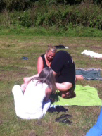 Yoga in het Amsterdamse Bos _ met Lydwina Meerman _ 9 september 2012 _7